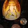 1920's type pair of art glass lamps