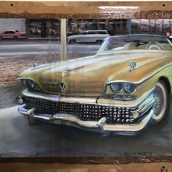 1958 Buick special convertible pastel art  - Fine Art
