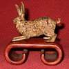 Vintage Cold Painted Bronze Hare Place Card Holder