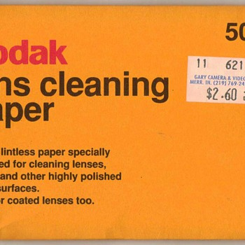 Kodak Lens Cleaning Paper