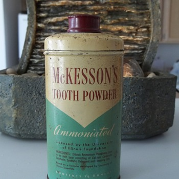 McKesson & Robbins, Tooth Powder. 1950's ? - Bottles
