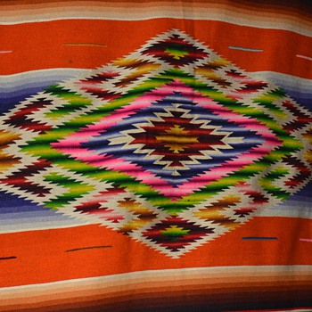 Mexican Saltillo / Serape I won on ebay - Rugs and Textiles