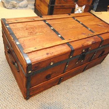 Civil war era trunk  - Furniture