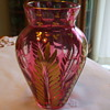 Cranberry Cut to Clear & Richly Gilded MOSER? VASE