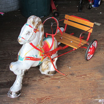 My old pedal horse - Toys
