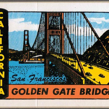 "Travel Sticker - ""Golden Gate Bridge"" - Advertising"