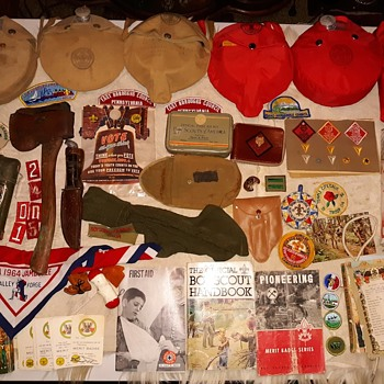 Saturday Evening Scout Post Boy Scout Collection  Part Too - Medals Pins and Badges