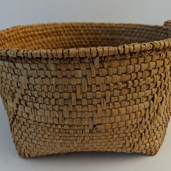 Old Basket, Twined, Native American, Asian?   - Furniture