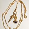 Antique Victorian Filigree 14k Lorgnette W/Watch Fob Key Set Necklace