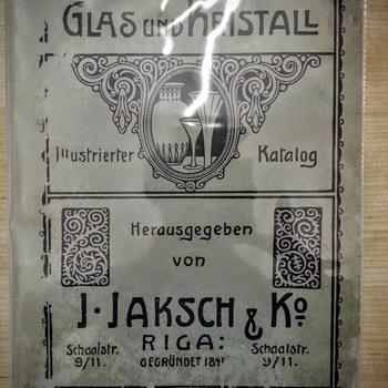 J.Jaksch & Ko, Riga 1910 - Art Glass