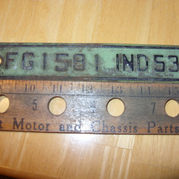 1953 indiana truck plates - Signs