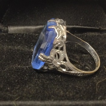 Antique? Blue glass ring