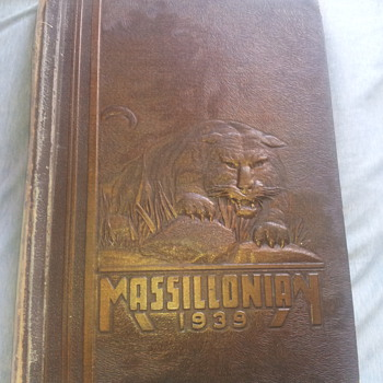 1939 Massillonian Yearbook with Paul Brown inside
