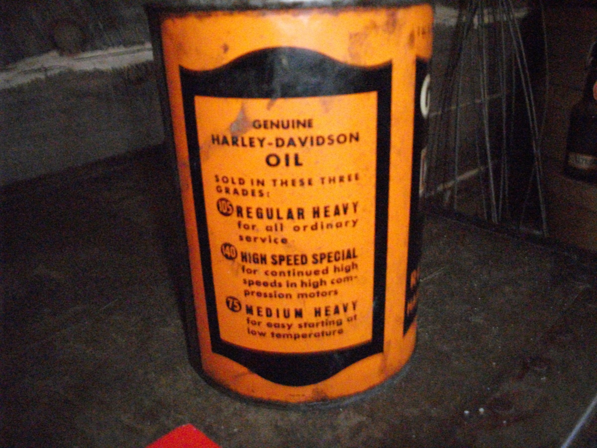 Full Harley Davidson Oil Can Collectors Weekly