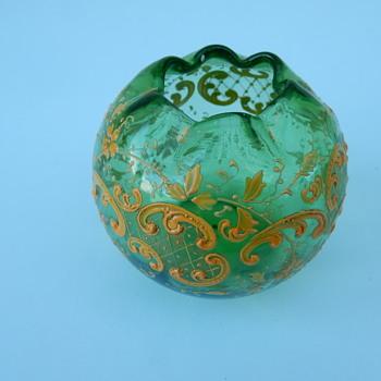 Josephinenhütte? Glass Rose Bowl. - Art Glass