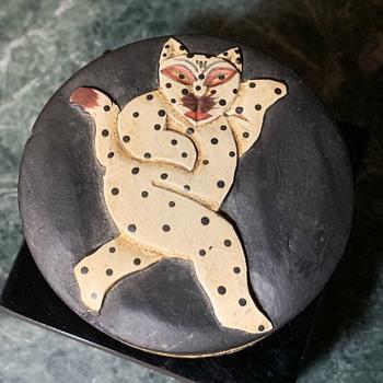 Turned Cat Box - Animals