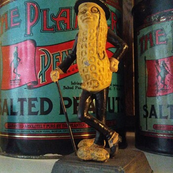 Mr. Peanut Statue. - Advertising