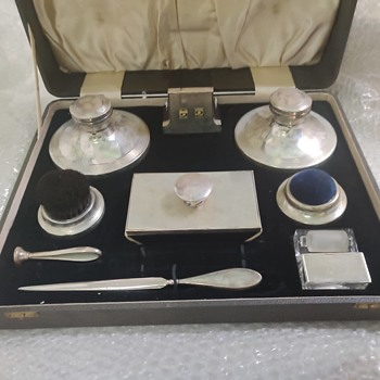 Hallmarked SILVERWARE DESK SET - Silver