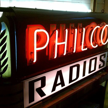 Philco Radios Porcelain Neon Sign - Radios