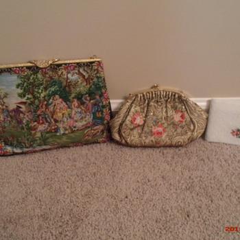 Petit Point Walborg purse, Josef beaded purse, Schildkraut Bros. beaded wallet