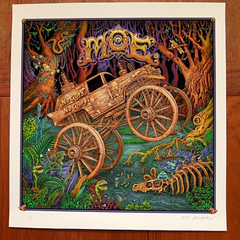 moe. album art as giclee print, by Emek