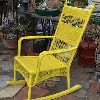 Comfy Outdoor 'Wicker' I painted.