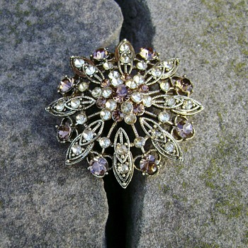 Monet Flower Brooch - Costume Jewelry