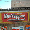 Large Dr Pepper sign