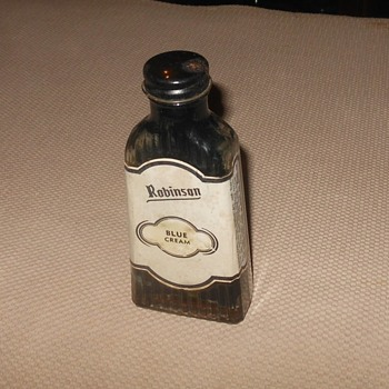Robinon Blue Cream Leather Polish Bottle - Bottles