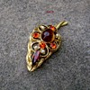 Vintage D and E brooch