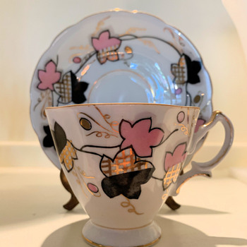 Pink and Black teacup - China and Dinnerware