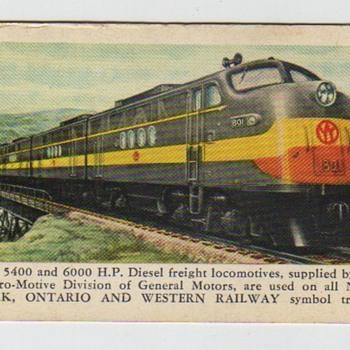 New York, Ontario and Western 1953 Pocket Calendar