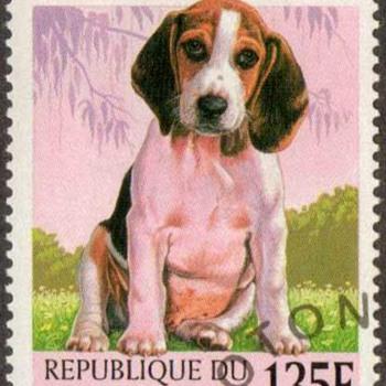 "1998 - Benin ""Beagle"" Postage Stamp - Stamps"