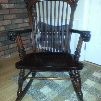 Lion head rocking chair