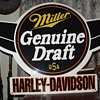 Miller Genuine Draft...USA...Harley-Davidson...Embossed Tin Sign