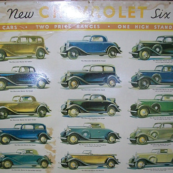 1933 Chevrolet showroom poster - Classic Cars