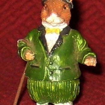 Gentleman Rat (Vintage Cold Painted Lead Figure) - Animals