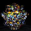 Czech Art Deco Glass Star Shade Globe