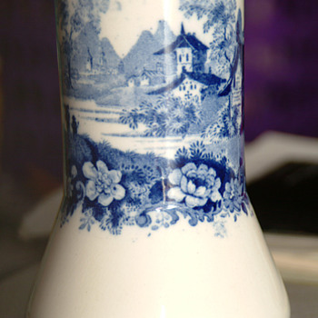 Minton Blue/White vase - China and Dinnerware