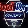 Bud Dry Draft neon sign