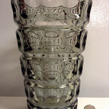 1960's Sklo Union Czech Glass Vase - Art Glass
