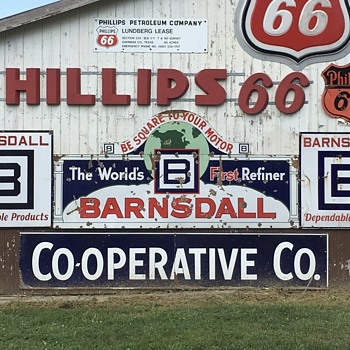 Barnsdall Porcelain Signs - Signs