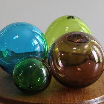 Japanese glass fishing floats