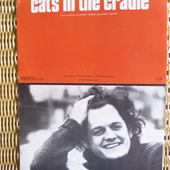 "YOUNG HARRY CHAPIN."" CAT'S IN THE CRADLE"", 1974 SHEET MUSIC - Music Memorabilia"
