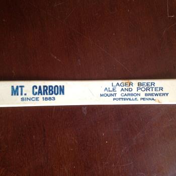 Mount Carbon Brewery Foam Scraper