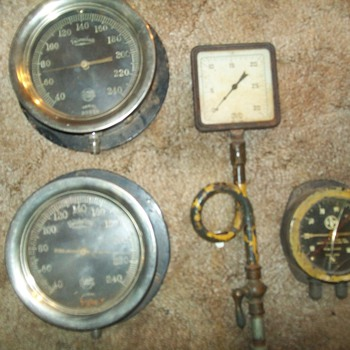 vintage railroad gauges - Railroadiana