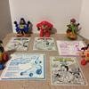 Looney Toons (Daffy, Taz and Petunia ) and 2 Yo Yogi Dolls Happy Meal Toys