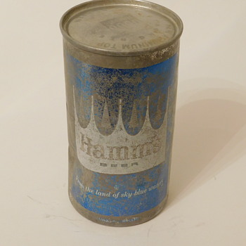 A Post for grneyedj - Unopened 60s Hamms Can - Breweriana