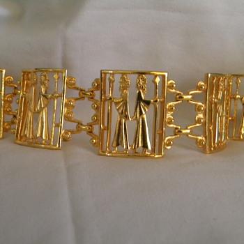 Vintage Vendome Kings Panel Bracelet