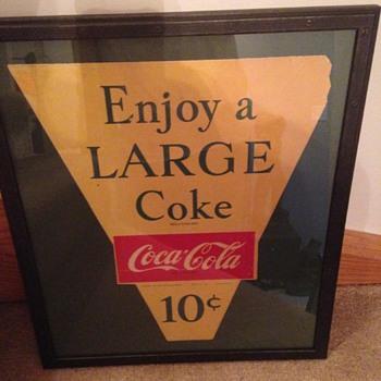 1957 Coca-Cola Paper Sign - Coca-Cola